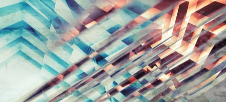 chaotic: Abstract monochrome background, chaotic intersected stripes pattern