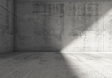 spot clean: Abstract empty dark concrete room interior. 3d render illustration