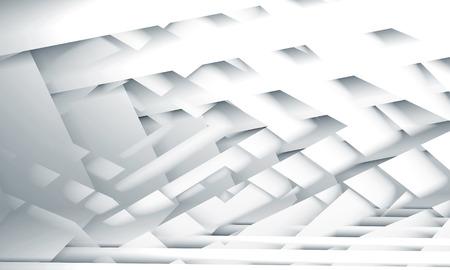 desktop wallpaper: Abstract digital illustration, white geometric background with stripes pattern, useful as a desktop wallpaper