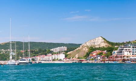 balchik: Summer cityscape of Balchik resort town. Black Sea coast, Varna region, Bulgaria
