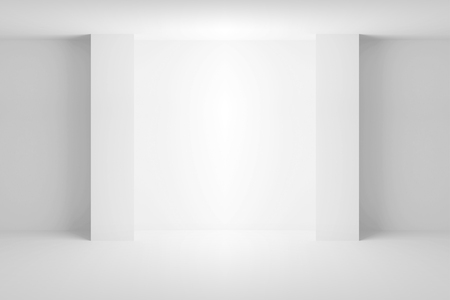niche: Abstract white architecture background. Empty room interior with light niche. 3d illustration Stock Photo
