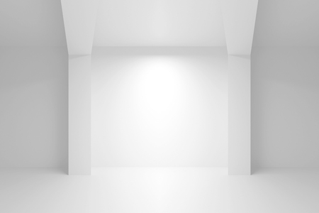 niche: Abstract white architecture background. Empty interior with light niche. 3d illustration