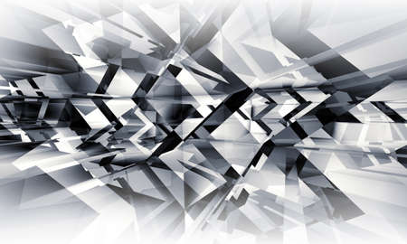 3d: Abstract geometric digital background with chaotically light structures pattern, 3d illustration