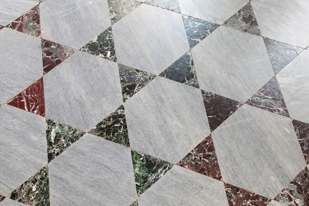 tiling: Old stone floor tiling, polygonal geometric pattern