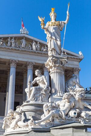 pallas: Pallas Athene Fountain located in front of the Austrian Parliament Building, it was erected between 1893 and 1902