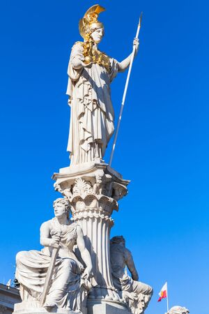 pallas: Pallas Athene Fountain in front of the Austrian Parliament Building, it was erected between 1893 and 1902 by Carl Kundmann, Josef Tautenhayn and Hugo Haerdtl. Austria, Vienna