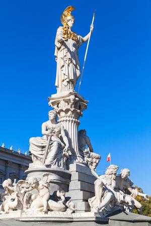 pallas: Pallas Athene Fountain in front of the Austrian Parliament, it was erected between 1893 and 1902 by Carl Kundmann, Josef Tautenhayn and Hugo Haerdtl. Austria, Vienna
