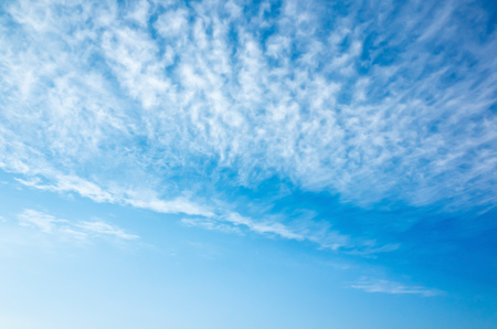 altocumulus: Natural bright blue sky with altocumulus cloud layers, background photo texture