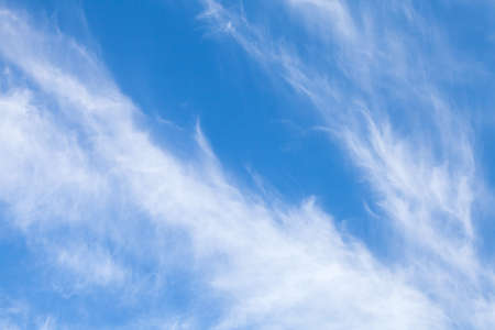 stratus: Cirrus clouds in blue sky, natural background photo texture