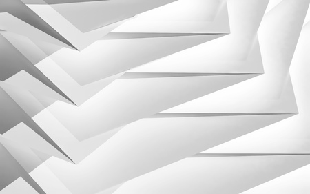 multi layered: Abstract digital geometric background, white chaotic polygonal multi layered structure, 3d illustration