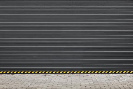 porte foncé garage volet roulant moderne gris, fond photo texture