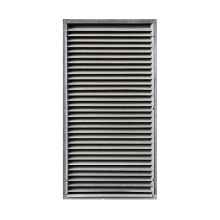 grille: Metal ventilation grille isolated on white background Stock Photo