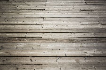 uncolored: Uncolored old dark gray wooden floor. Background photo texture Stock Photo