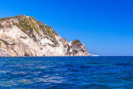 ionian: Marathonisi islet near Greek island Zakynthos in the Ionian Sea Stock Photo