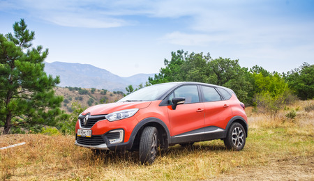 fourwheeldrive: Novorossiysk, Russia - August 21, 2016: Renault Kaptur. It is a Russian version of subcompact crossover car Renault Captur with extended wheelbase, elevated ground clearance and four-wheel-drive