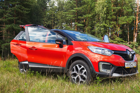fourwheeldrive: Novorossiysk, Russia - August 19, 2016: Renault Kaptur with open doors. It is a Russian version of crossover Renault Captur with extended wheelbase, elevated ground clearance and four-wheel-drive