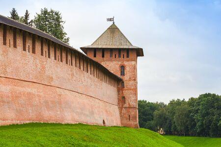 volkhov: Novgorod Kremlin, also Detinets. Bank of the Volkhov River in old russian town Veliky Novgorod