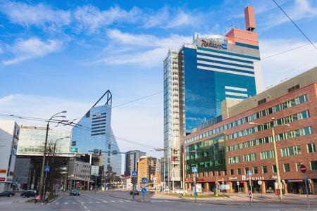 blu: Tallinn, Estonia - May 1, 2016: Radisson Blu Hotel Olumpia in modern part of Tallinn city Editorial