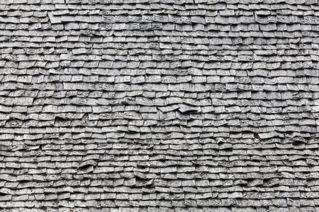tiling: Background photo texture of old gray wooden roof tiling