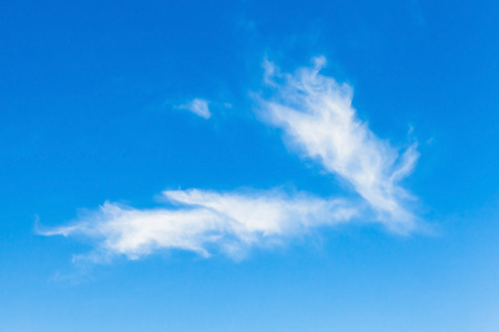 cirrus: Cirrus clouds, natural blue cloudy sky background photo Stock Photo