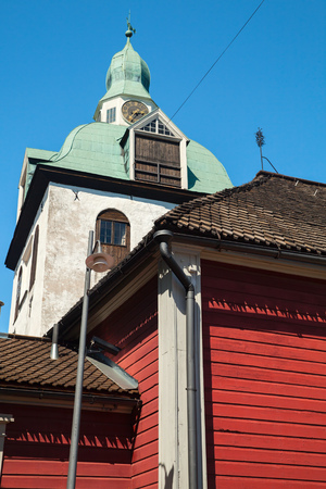 belltower: Separate belltower of Porvoo Cathedral, Finland