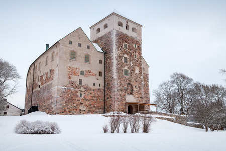 surviving: Turku, Finland - January 17, 2016: Turku Castle, the largest surviving medieval building in Finland, it was founded in 13th century Editorial