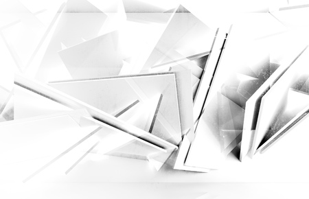 twin: Abstract white geometric background, square twin blocks with grungy concrete texture. 3d illustration, computer graphic