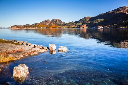 Coastal Norwegian landscape, Snillfjord, Vingvagen fishing camp