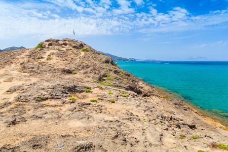 holydays: Rocky coast of Zakynthos island, Greece. Popular touristic destination for summer holydays