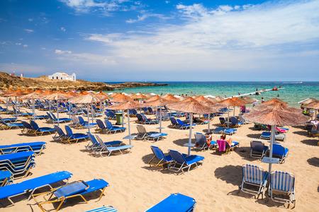ionian: Landscape of Agios Nikolaos beach, Greek island of Zante. It is a popular beach in Vassilikos, Zakynthos, Greece Stock Photo