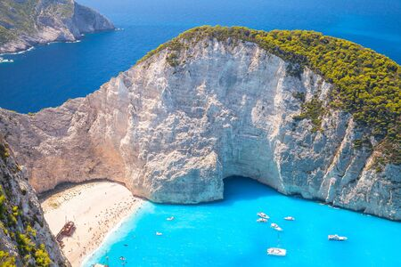 ship wreck: Navagio bay, Greece. Ship Wreck beach. The most popular natural landmark of Zakynthos, Greek island in the Ionian Sea