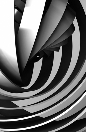 shiny black: Abstract vertical digital background, shiny black spiral structures, 3d illustration useful as a wallpaper pattern for electronic mobile devices