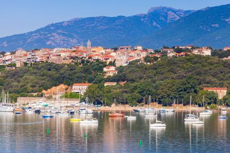 Corsica island, France. Old Porto-Vecchio town, coastal cityscape