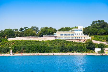 Central public beach of Burgas and coastal Sea Garden, Black sea coast, Bulgaria