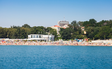 Central public beach of Burgas near Sea Garden, Black sea coast, Bulgaria