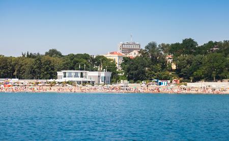 Central public beach of Burgas near Sea Garden, Black sea coast, Bulgaria