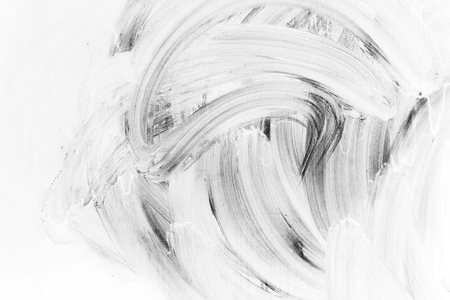 Abstract background photo texture, white brush strokes paint pattern over dark wall