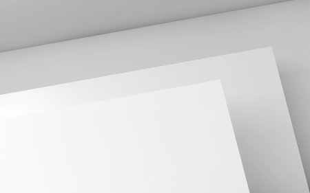minimal: Abstract white background, contemporary minimal architecture, interior design. 3d render illustration