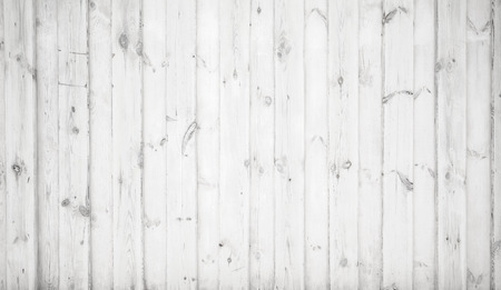 White grungy wooden wall, detailed flat background photo texture Imagens - 75667800