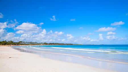 cana: Macao Beach, touristic resort of Dominican Republic, Hispaniola Island. Coastal tropical landscape