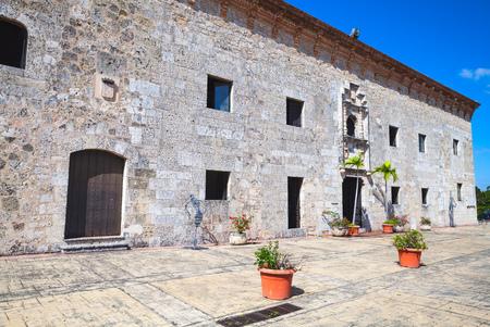 Santo Domingo,  Dominican Republic - January 11, 2017: Museum of the Royal Houses, Zona Colonial, Distrito Nacional