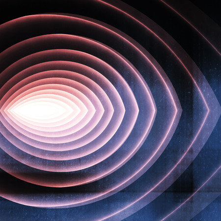 corridors: Abstract digital graphc background, colorful tunnel with glowing end, 3d illustration