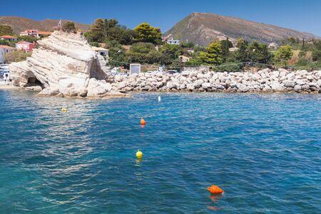 ionian: Agios Sostis coastal landscape. Zakynthos island, Greece. Popular touristic destination for summer vacations