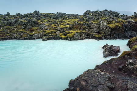 Iceland, Blue lagoon view. This geothermal spa is one of the most visited attractions in Iceland