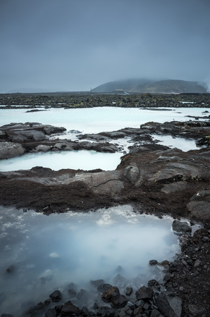 grindavik: Iceland, Blue lagoon landscape. This geothermal spa is one of the most visited attractions in Iceland
