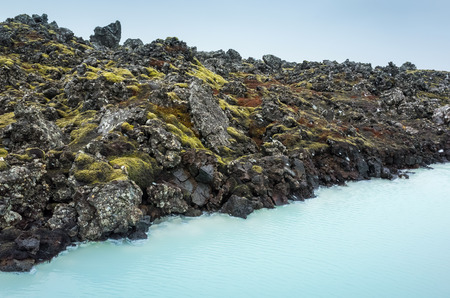 Iceland, Blue lagoon coast. This geothermal spa is one of the most visited attractions in Iceland