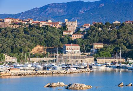 Corsica island, France. Summer coastal landscape of Porto-Vecchio town