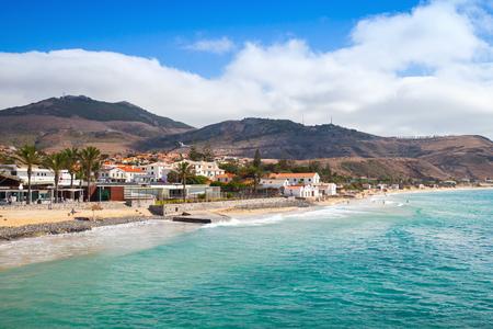 Vila Baleira coast. Landscape of the island of Porto Santo in the Madeira archipelago