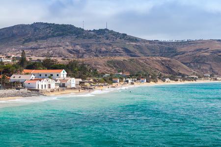 Vila Baleira. Coastal landscape of the island of Porto Santo in the Madeira archipelago Stock Photo