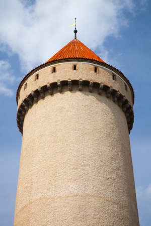 Tower of Konopiste castle, Czech Republic. It was established in the 1280s and renovated between 1889 and 1894 by Josef Mocker into a luxurious residence for Archduke Franz Ferdinand of Austria